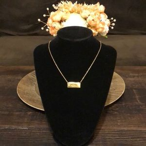 """Jewelry - NWOT ~ LC 16"""" Gold Necklace With Bar Pendant"""